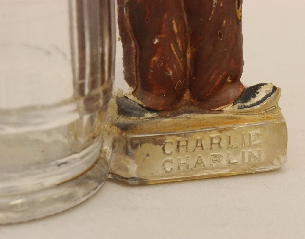 Charlie Chaplin Glass Candy Container - 3