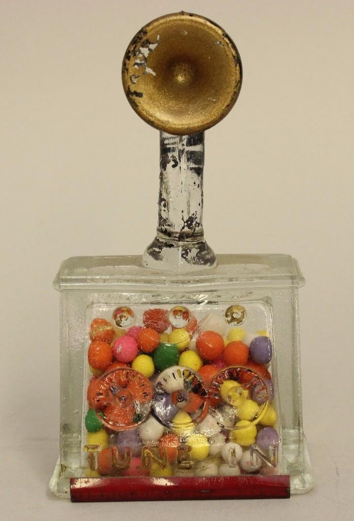 Glass Candy Container of a Radio