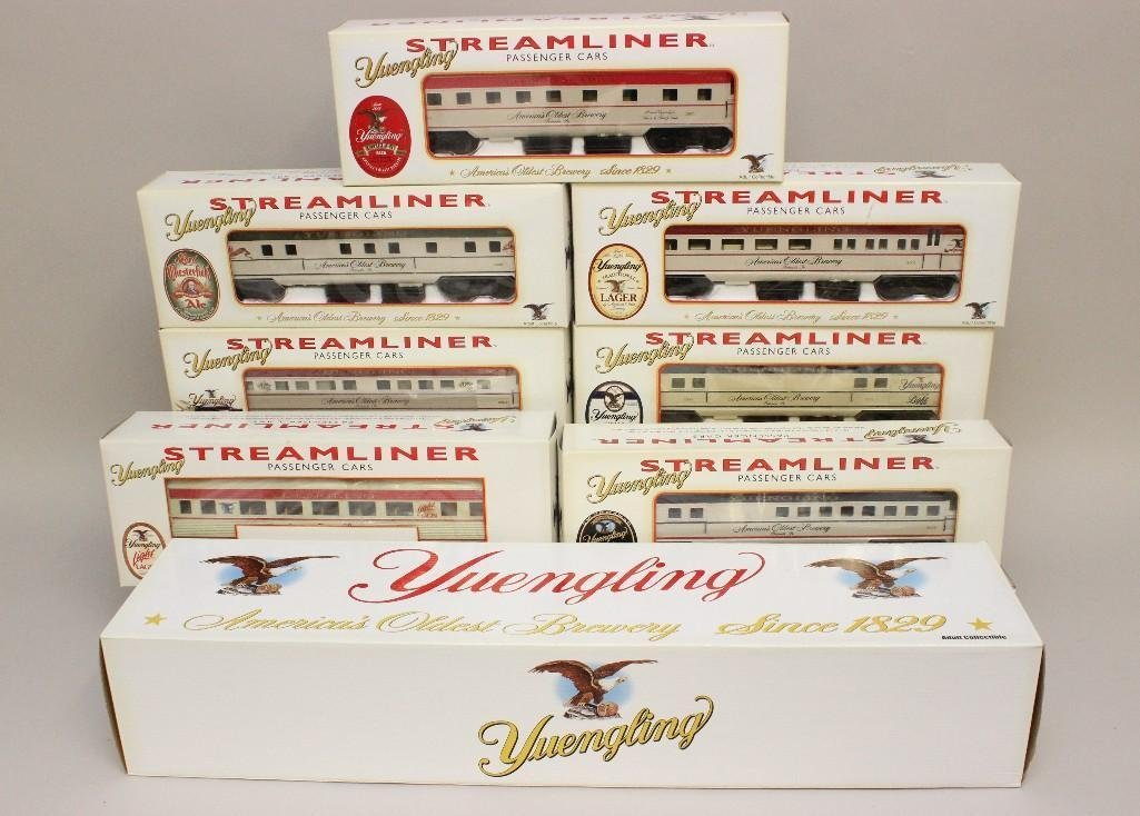 (8) Piece Yuengling Train Set of Steam Engine and Cars