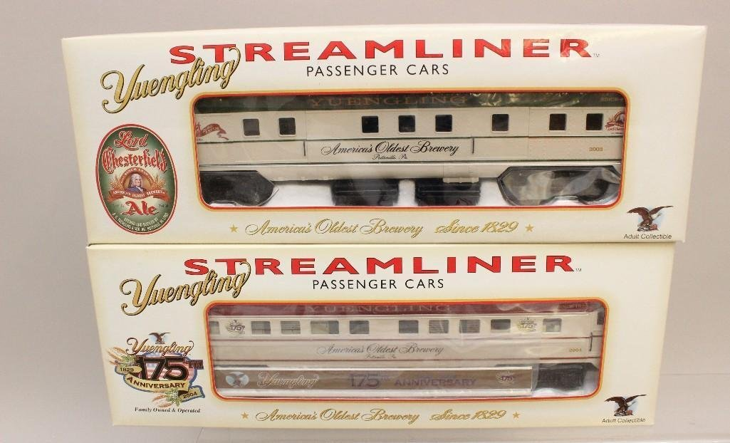 (8) Piece Yuengling Train Set of Steam Engine and Cars - 2
