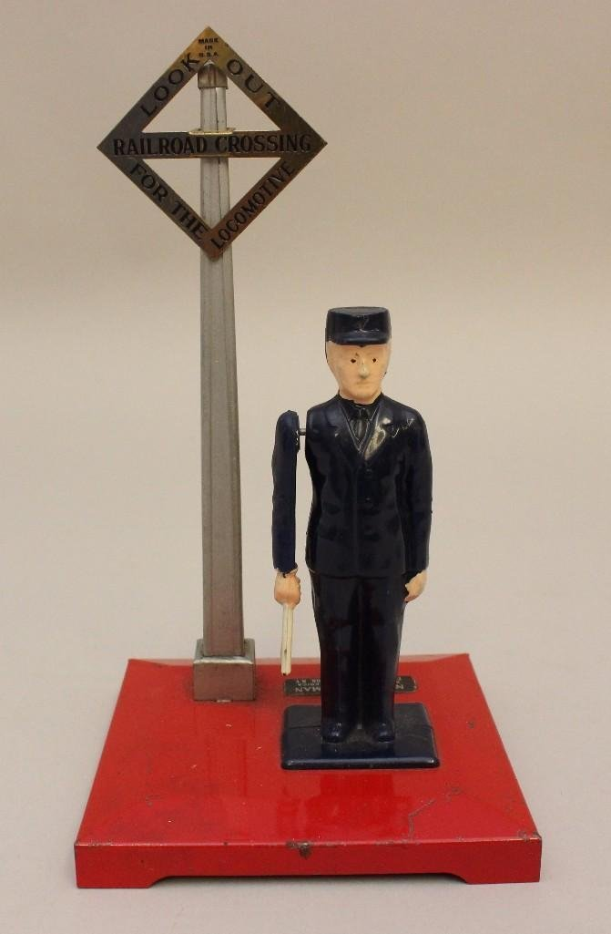Lot of Lionel 1 Flagman and 2 Crossing Signs - 6