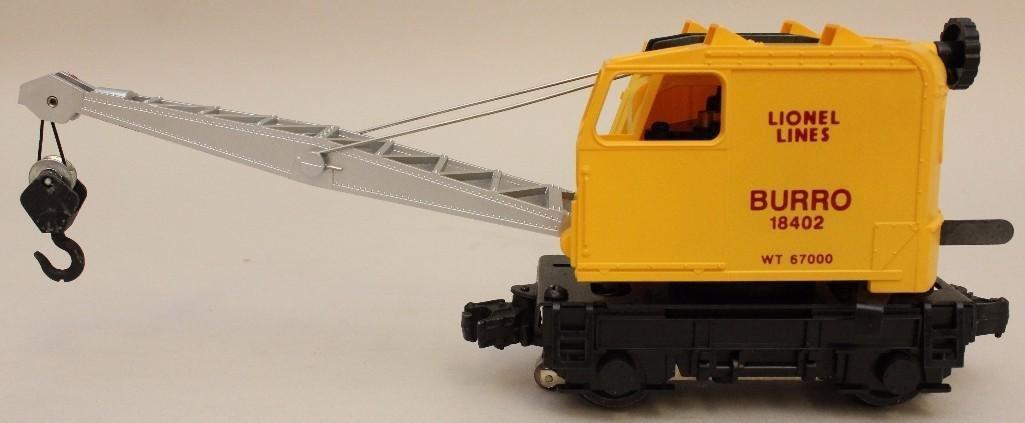 Lionel Lines Burro Operating Crane