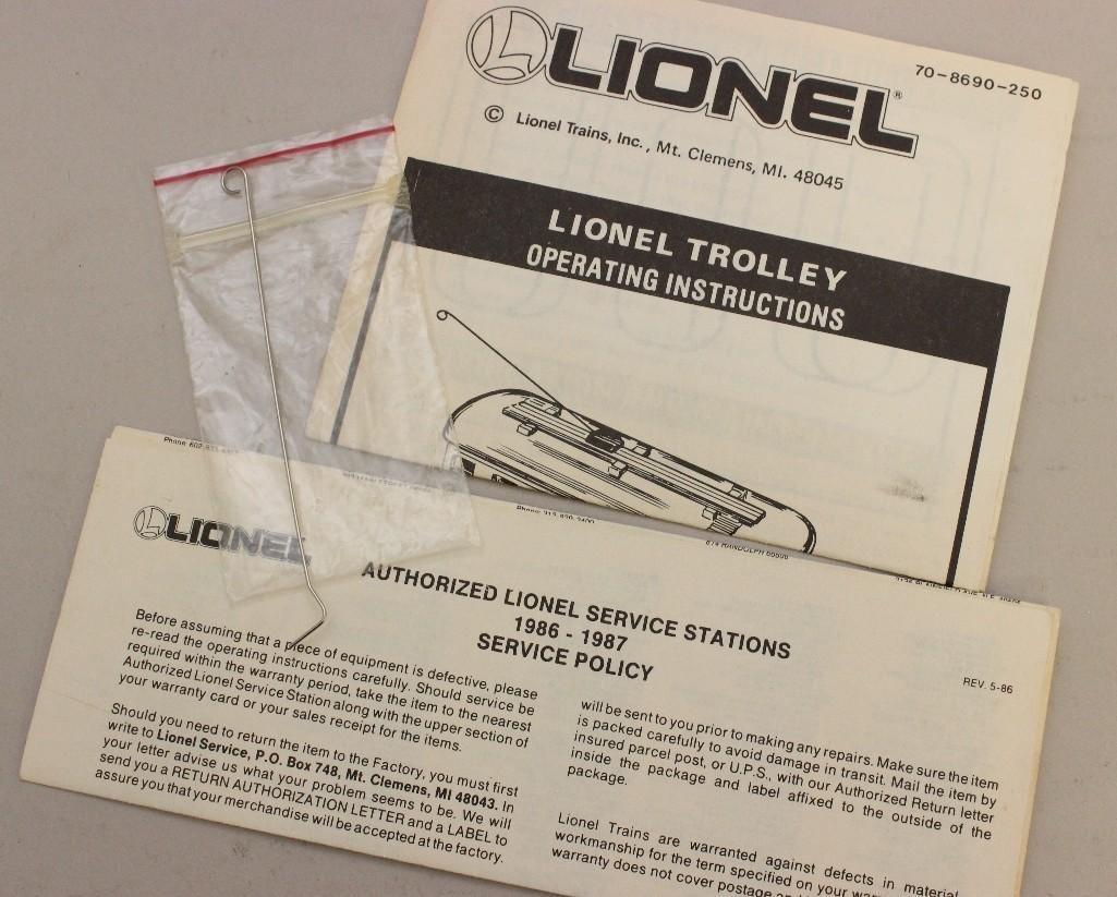 Lionel Trolley Car - 7