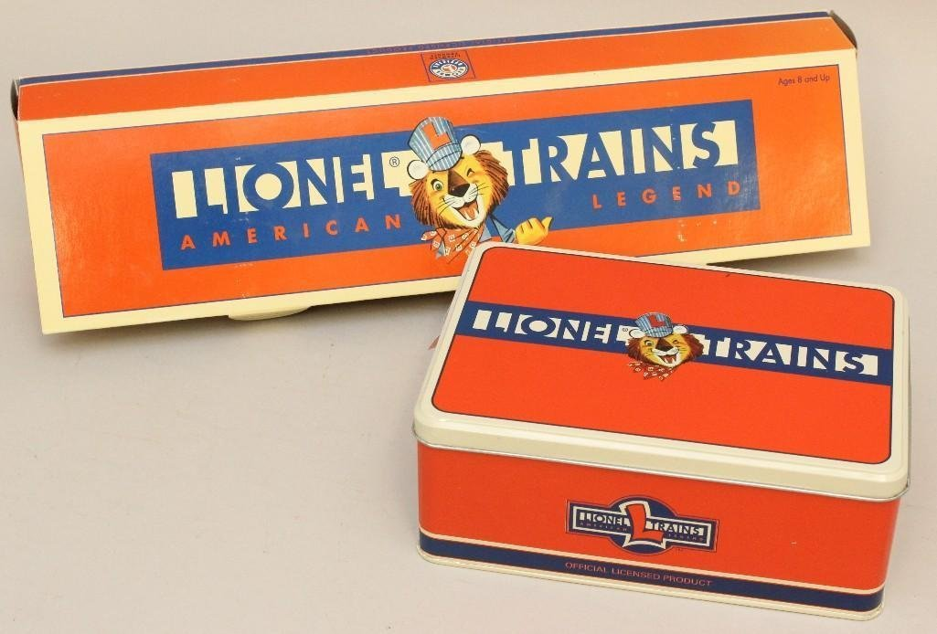 Lionel Railroad Hand Car and Train Stop Tins - 3