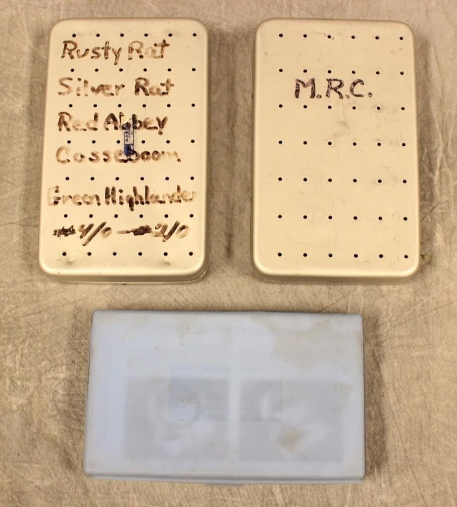(3) Boxes Various Flies