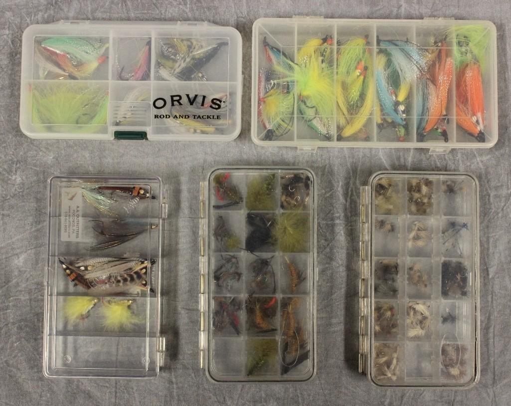 (5) Boxes Various Flies