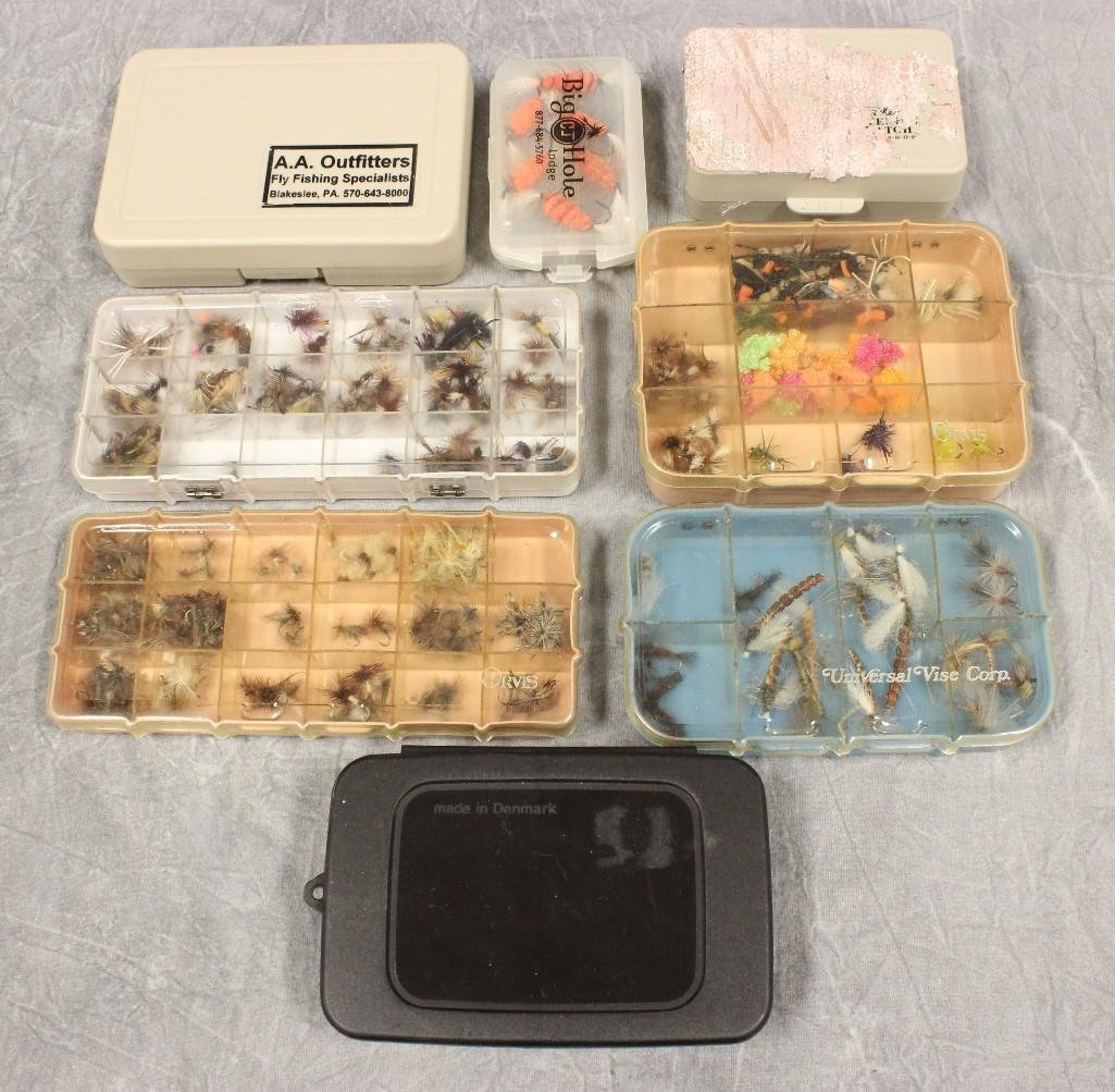 (5) Boxes Various Flies