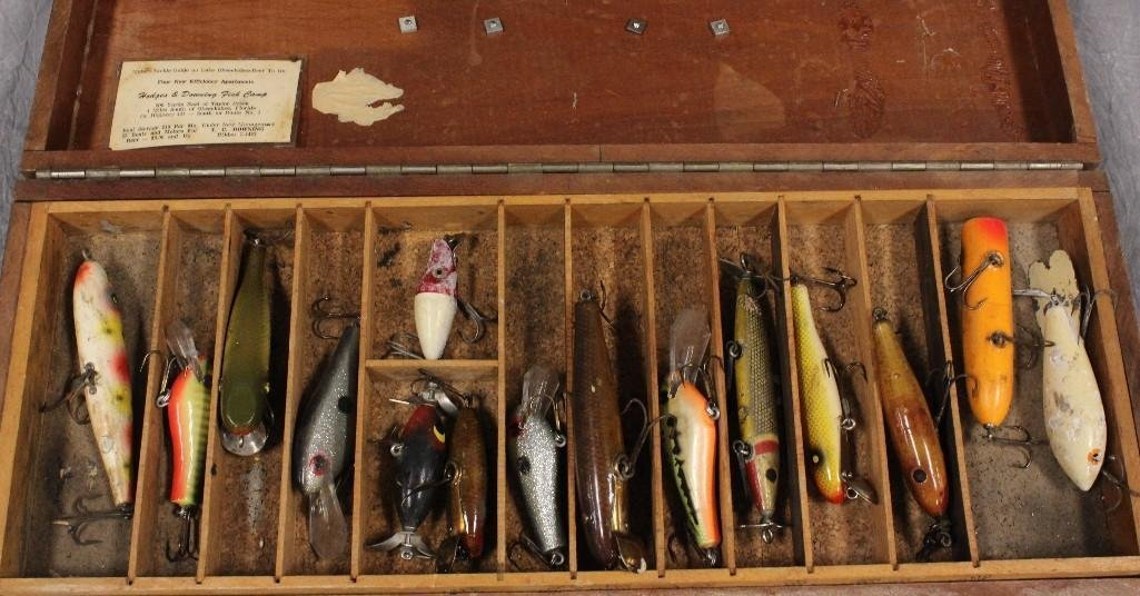 Old Wooden Tackle Box - 3