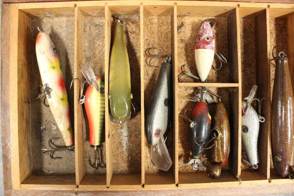 Old Wooden Tackle Box - 5