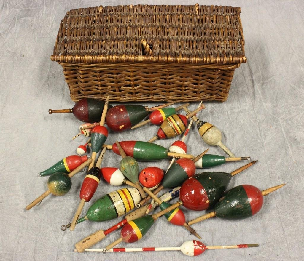 Approx. (25) Vintage Wooden Bobbers.