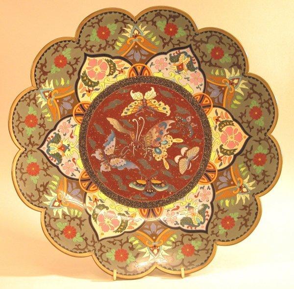 1: Cloisonné Plate.
