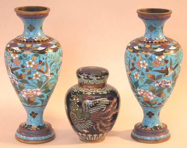 5: Three Cloisonné Items.