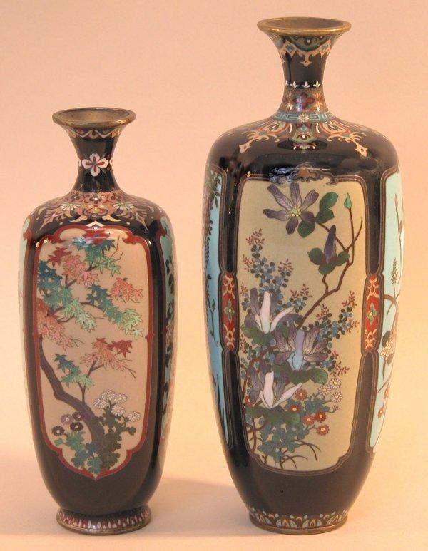 6: Two Cloisonné Vases.