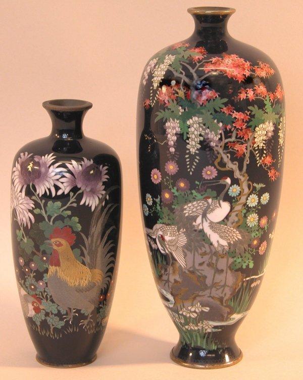 7: Two Cloisonné Vases.
