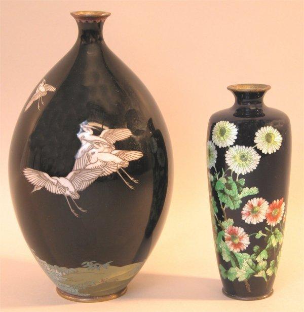 10: Two Cloisonné Vases.