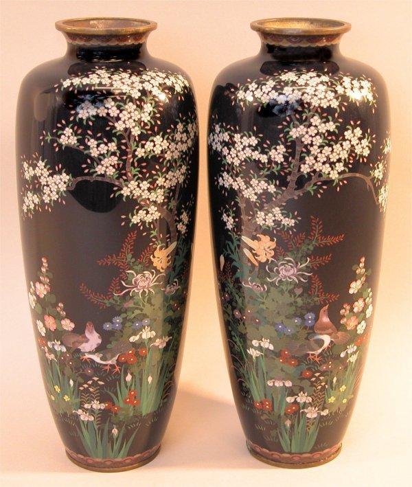 14: Pair of Cloisonné Vases.