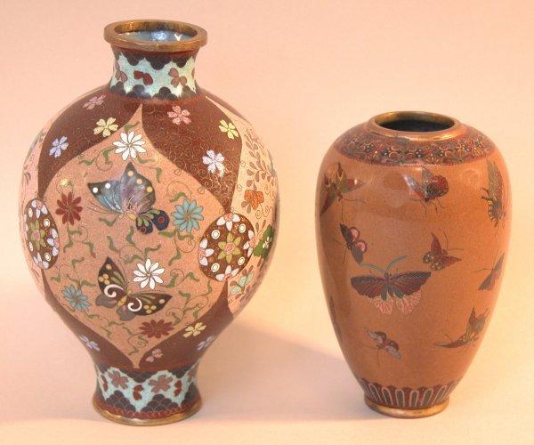19: Two Cloisonné Vases.