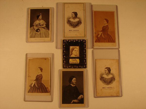 510: GROUPING OF 6 + 1 SMALL CDV IMAGES