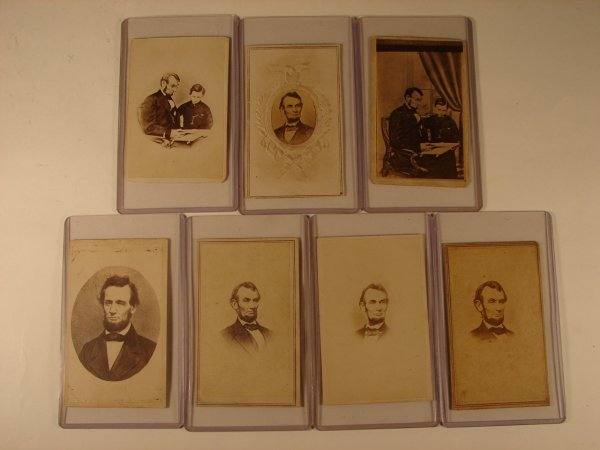 512: GROUPING OF 7 CDV IMAGES