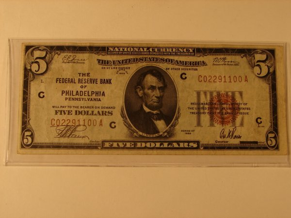 518: $5 NATIONAL CURRENCY SERIES 1929