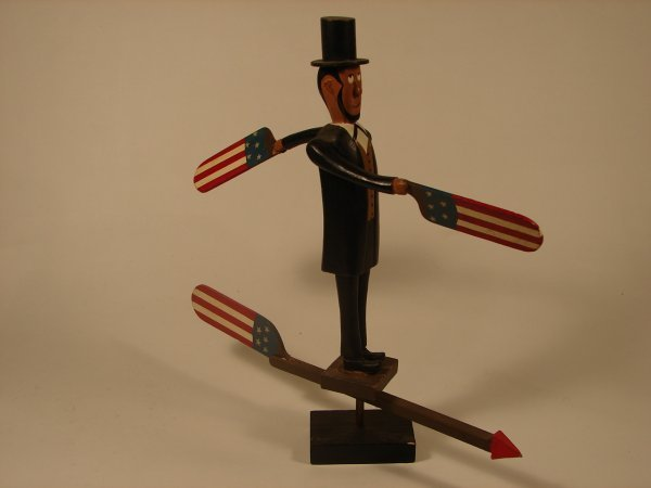 522: FOLK ART ABRAHAM LINCOLN WHIRLY GIG