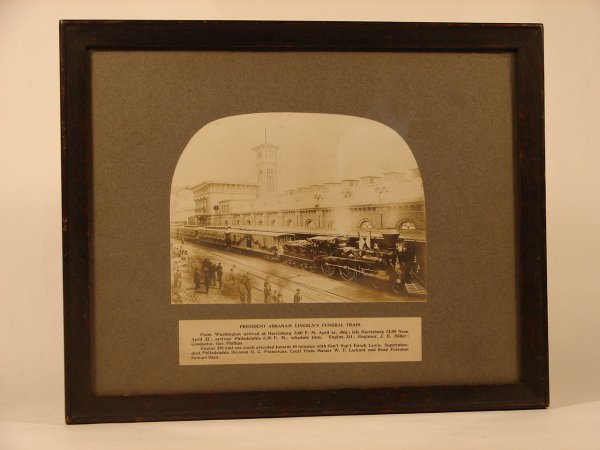652: PHOTOGRAPH OF LINCOLN FUNERAL TRAIN RESTRIKE