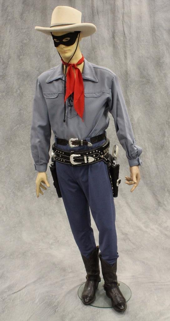 Lone Ranger Mannequin with Holster and Pistols