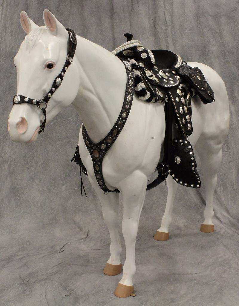 "Life-Size White Horse ""Silver"""