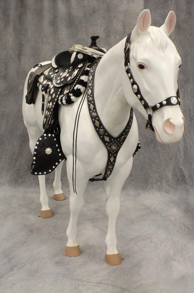 "Life-Size White Horse ""Silver"" - 2"