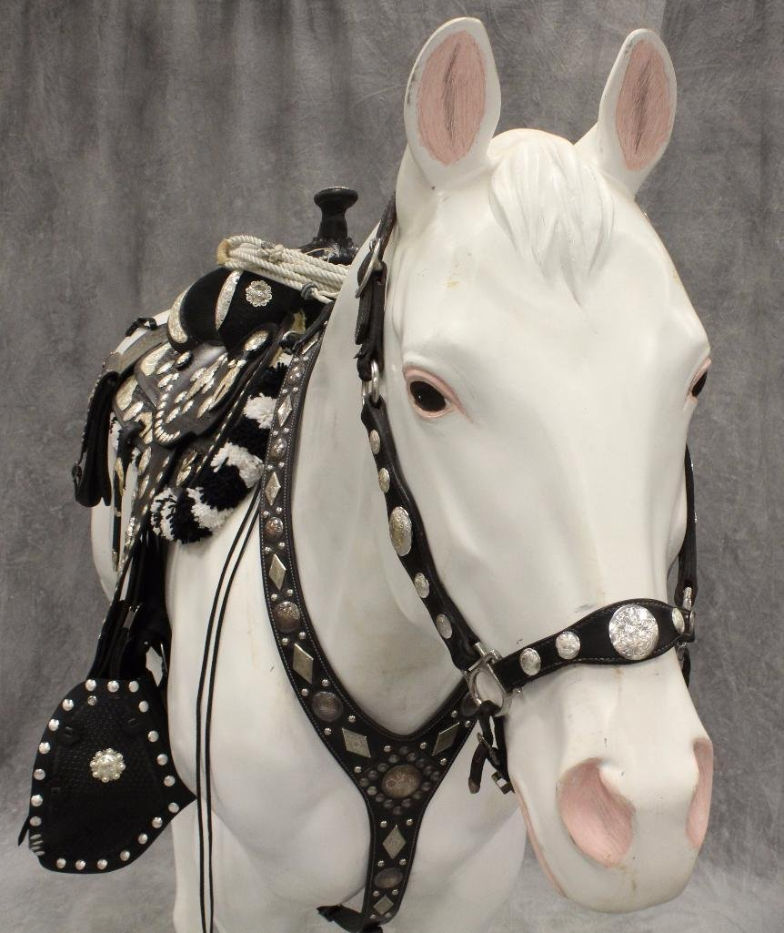 "Life-Size White Horse ""Silver"" - 3"