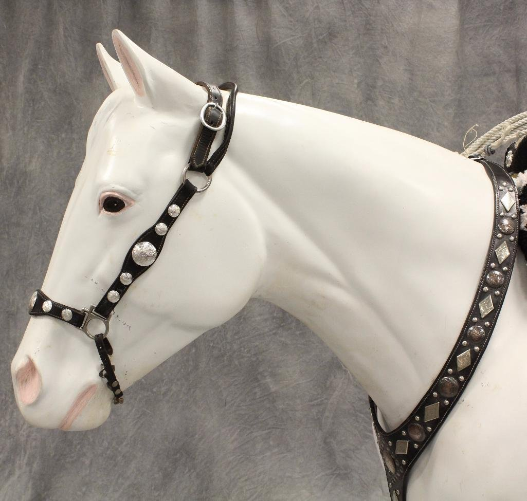 "Life-Size White Horse ""Silver"" - 4"