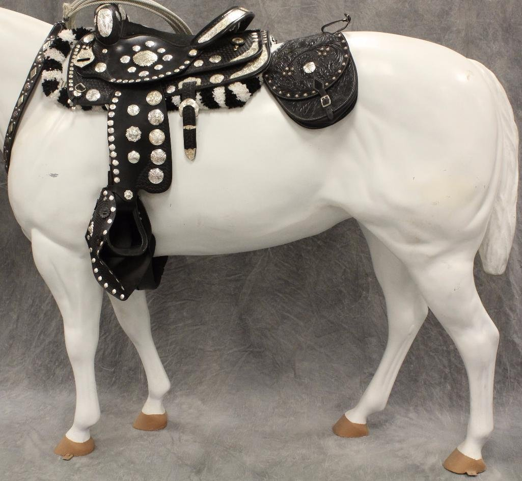 "Life-Size White Horse ""Silver"" - 5"