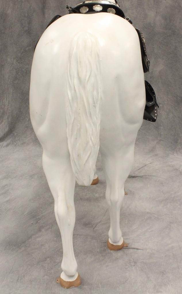 "Life-Size White Horse ""Silver"" - 7"
