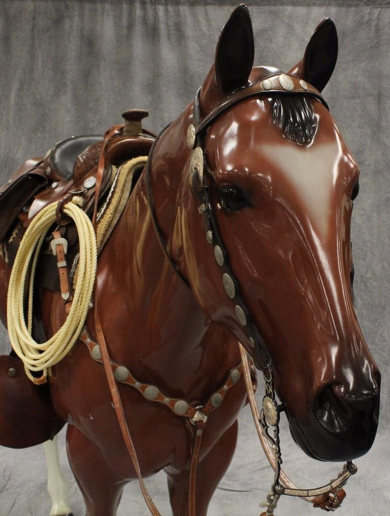 Life-Size Brown Horse - 4