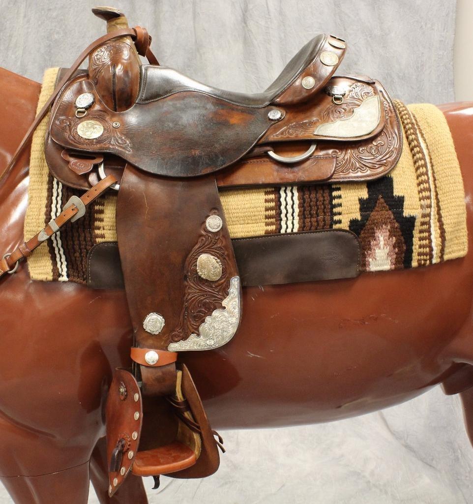 """Brown Circle Y Roping 16"""" Saddle"""