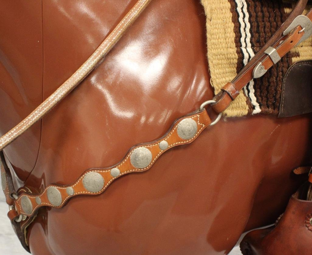Silver Concho Breast Collar