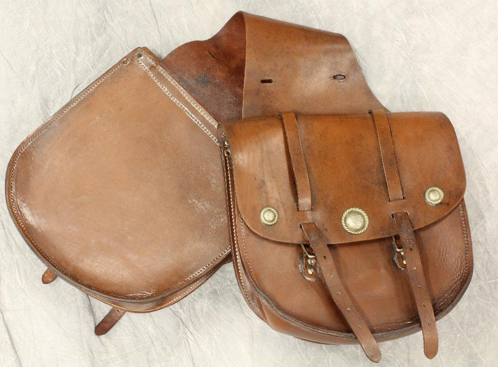 Brown Leather Saddle Bags