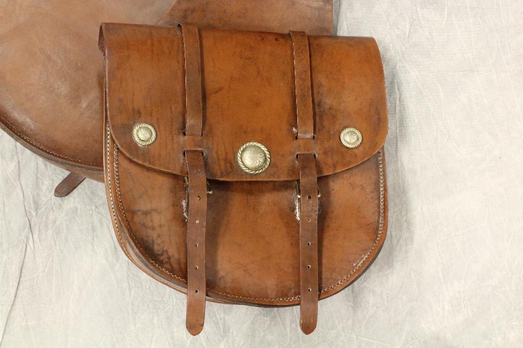 Brown Leather Saddle Bags - 3