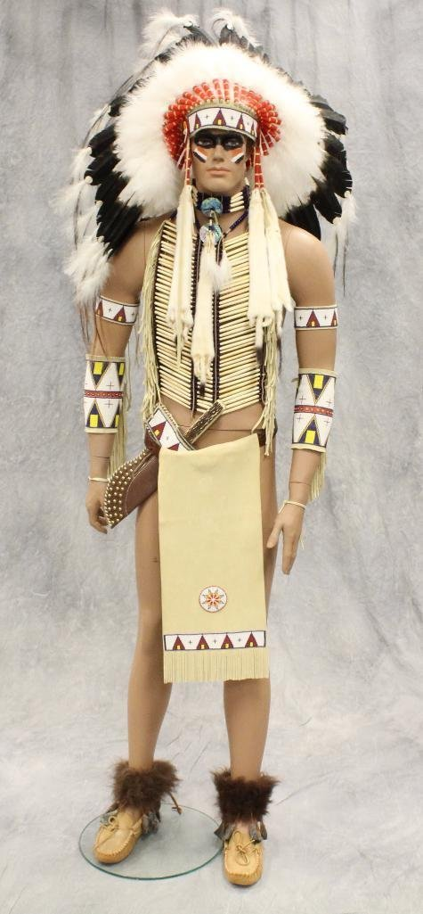 Indian War Chief Mannequin  Dressed in Tecumseh's - 2