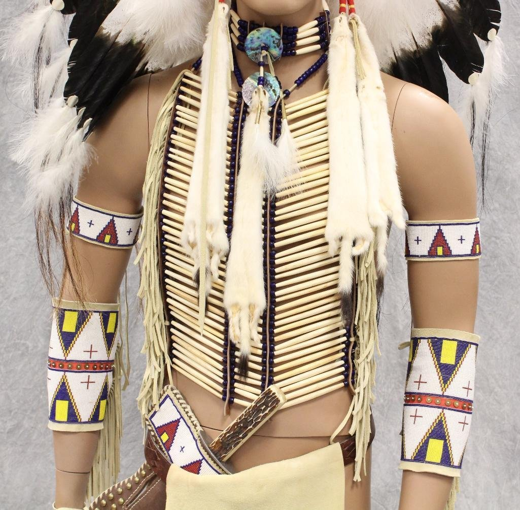 Indian War Chief Mannequin  Dressed in Tecumseh's - 3