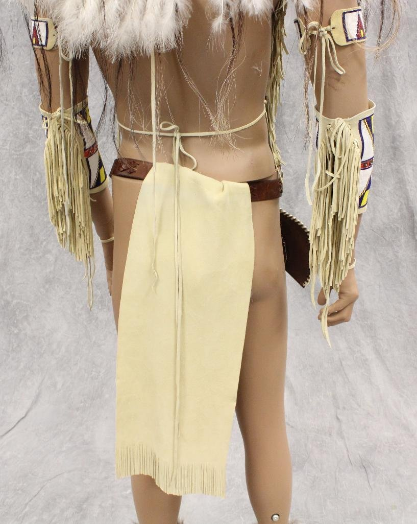 Indian War Chief Mannequin  Dressed in Tecumseh's - 9