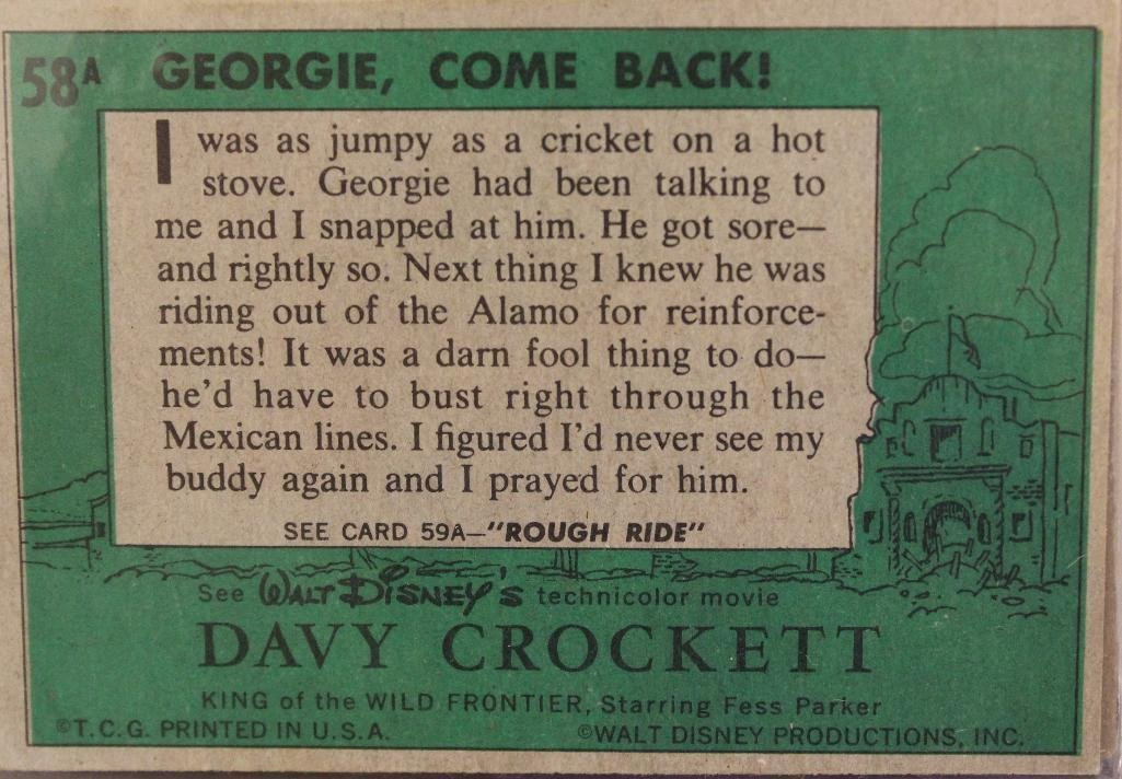 Davy Crockett Green Back Trading 80 Card Collection - 10