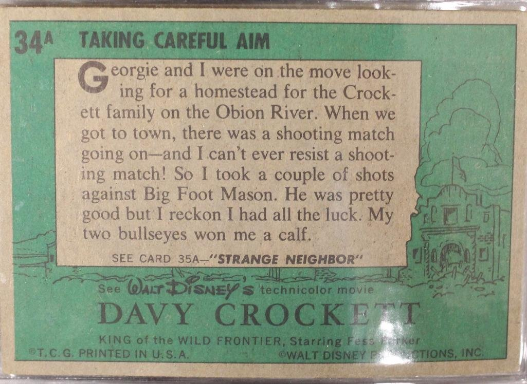 Davy Crockett Green Back Trading 80 Card Collection - 9