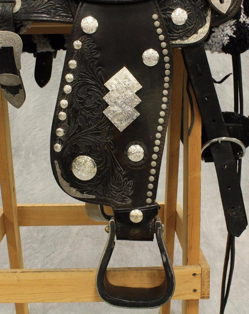 "Circle Y 17"" Silver Parade Saddle - 3"