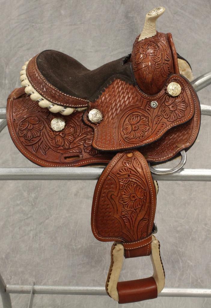 """Miniture 7"""" Pony Saddle"""