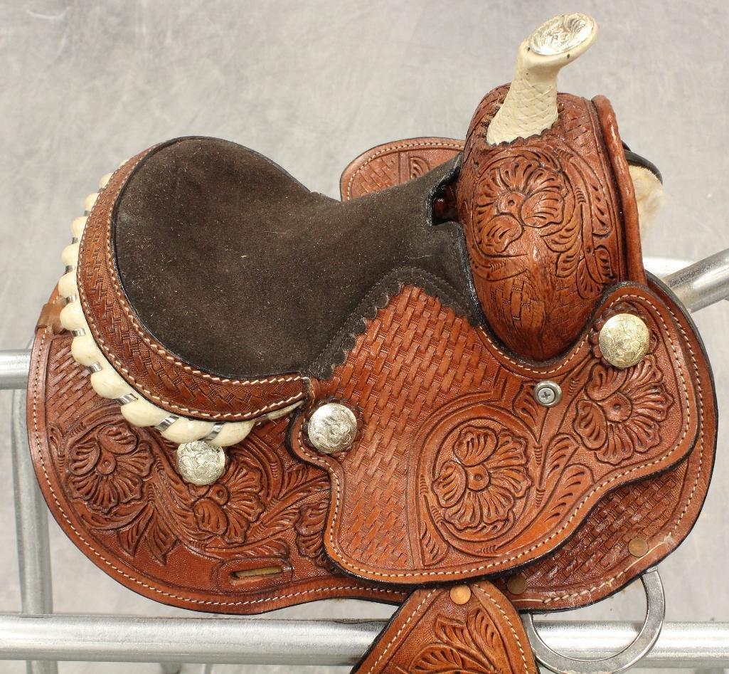 """Miniture 7"""" Pony Saddle - 3"""
