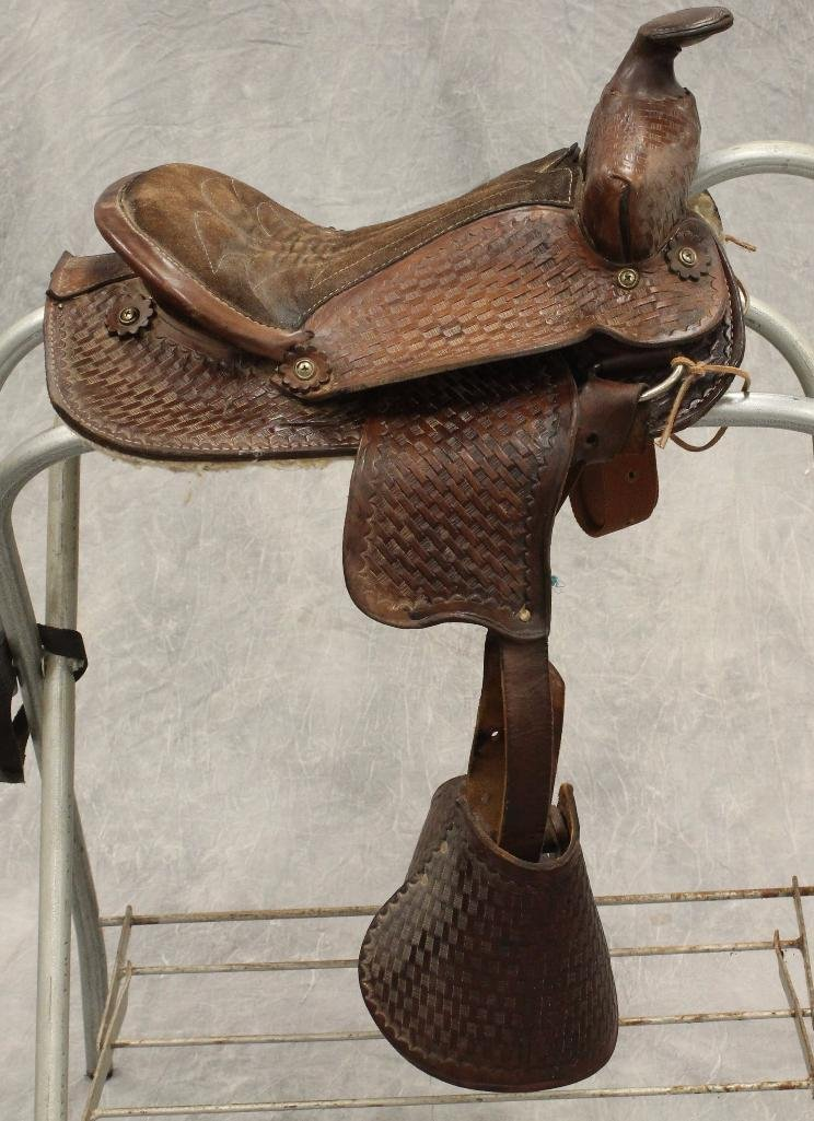 "Pony 12"" Brown Leather Saddle"