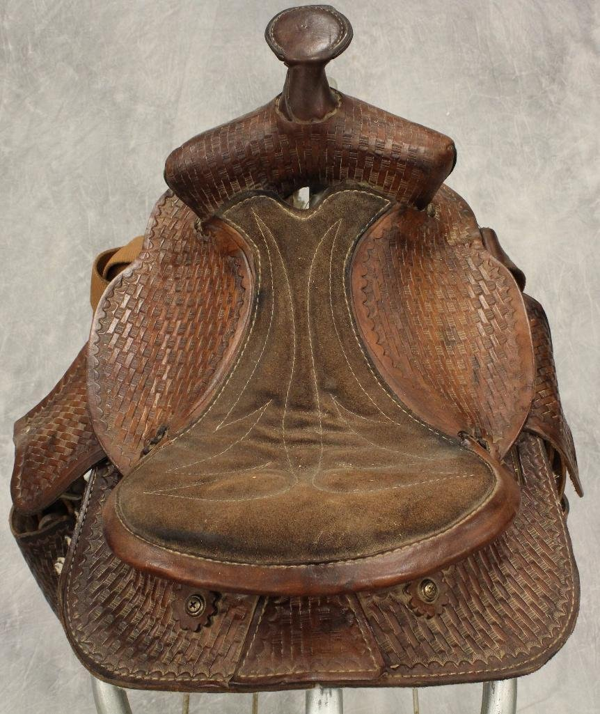 "Pony 12"" Brown Leather Saddle - 5"