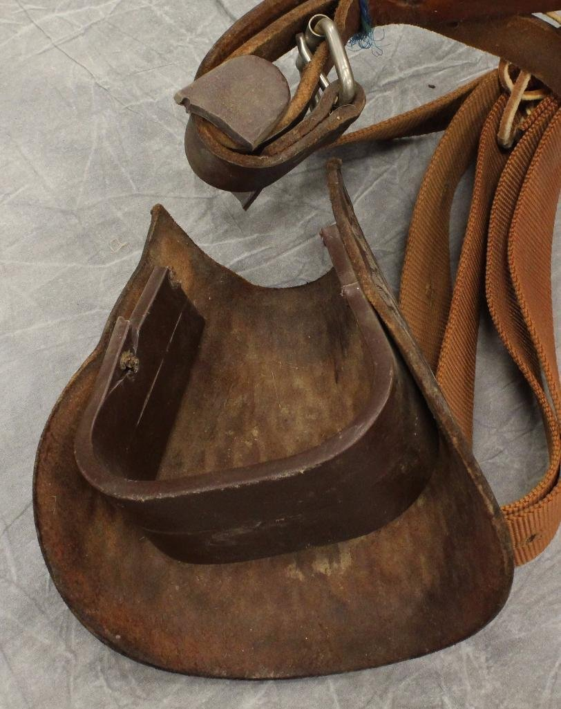 "Pony 12"" Brown Leather Saddle - 7"