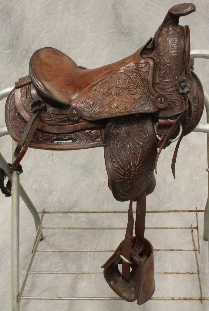 "Pony 12"" Brown Leather Saddle"